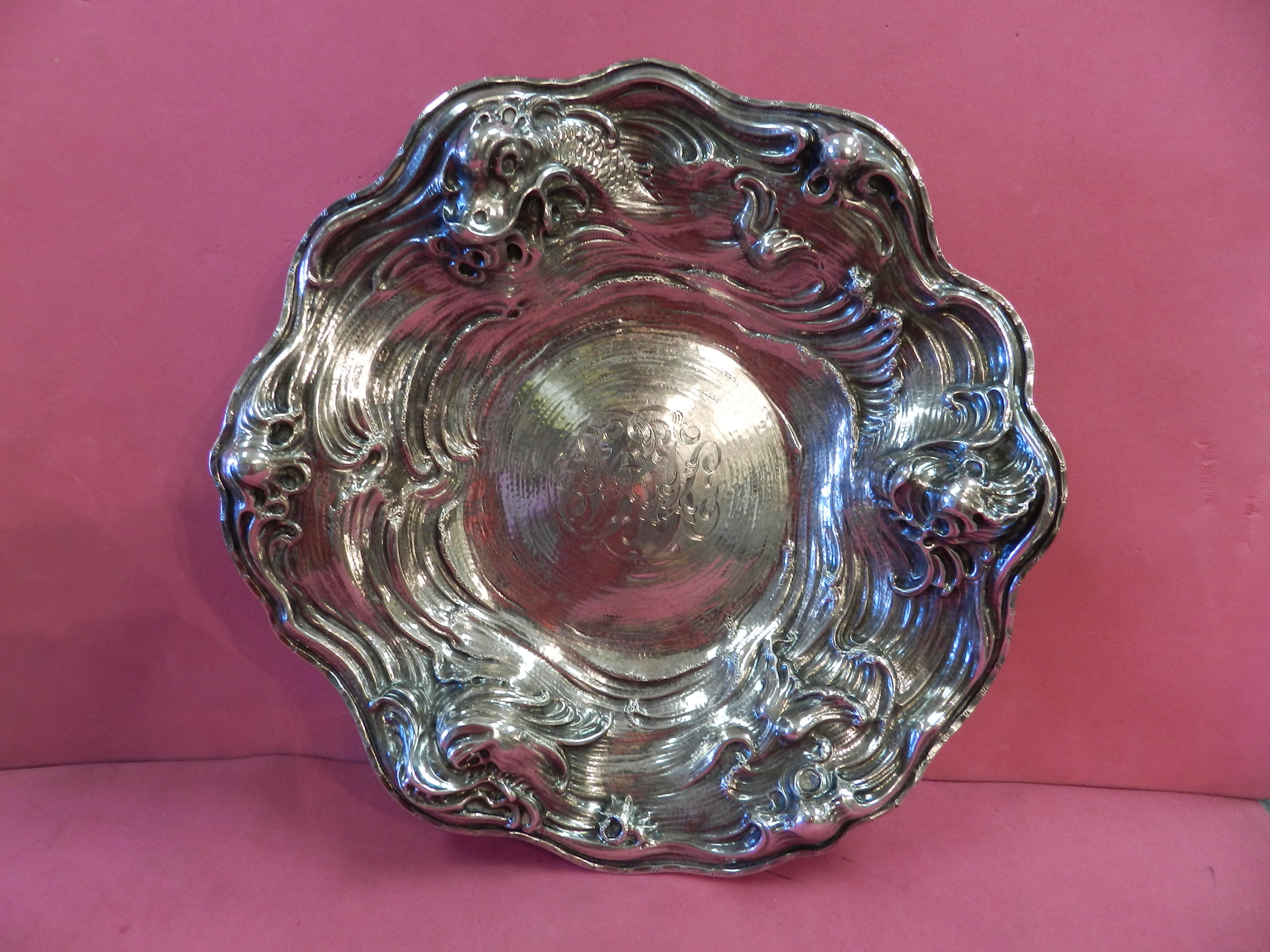 ART NOUVEAU STERLING SILVER BOWL