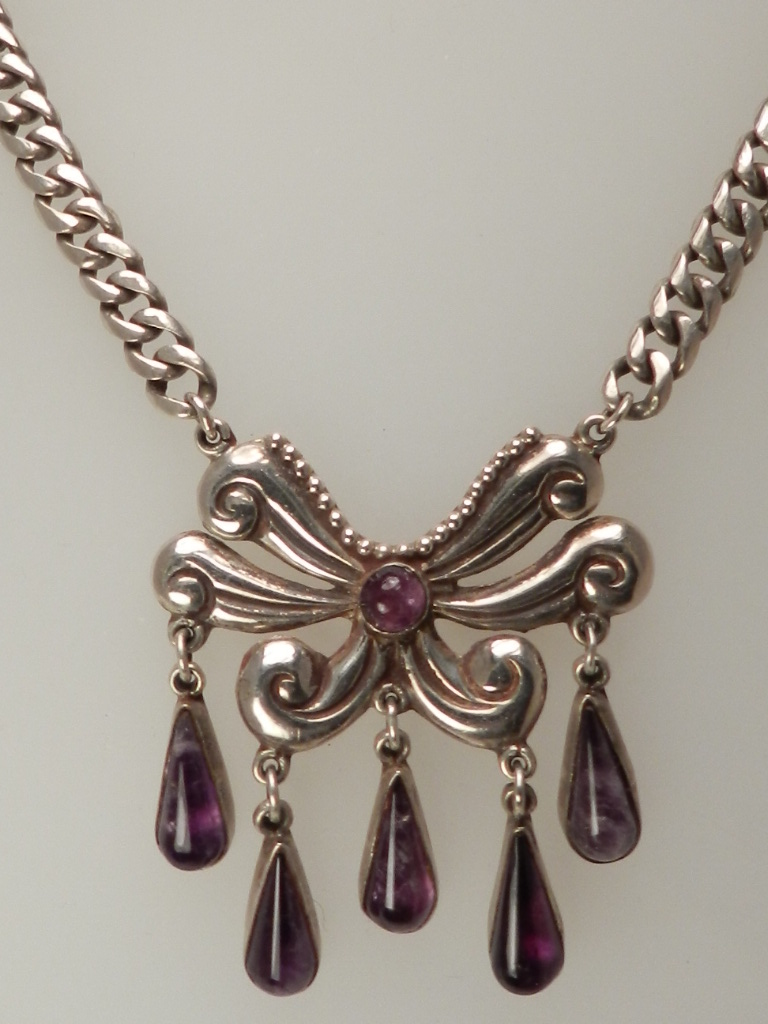 TAXCO SILVER & AMETHYST NECKLACE